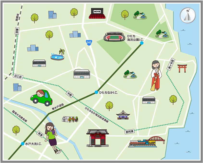 ホームメイト・リサーチ】ひたちなか市の観光マップ・レジャーマップ