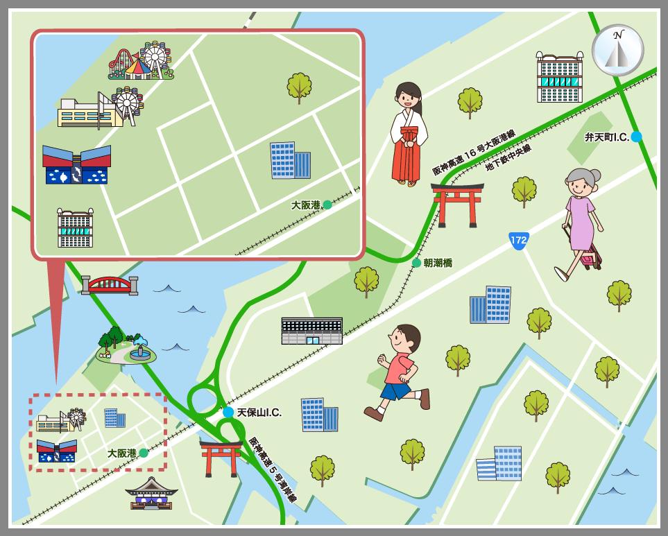 地図 内 大阪 市
